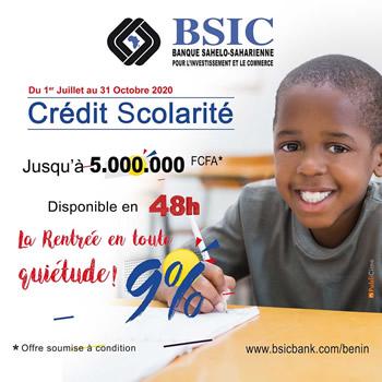 Crédit Scolarité BSIC 2020